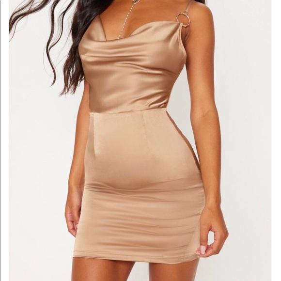 PrettyLittleThing Dresses & Skirts - Champagne Satin Dress